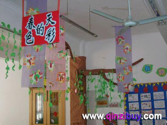 春天环境:春天的色彩8—幼儿园环境布置图片