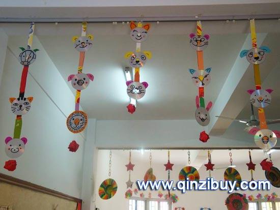 幼儿园环境布置 光盘吊饰