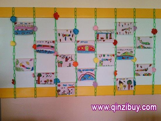 幼儿园主题墙环境布置:彩虹桥—幼儿园环境布置图片