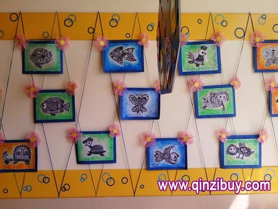 幼儿园主题墙环境布置:动物秀—幼儿园环境布置图片