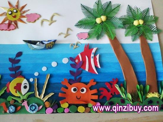 幼儿园主题墙环境布置:热带海洋—幼儿园环境布置