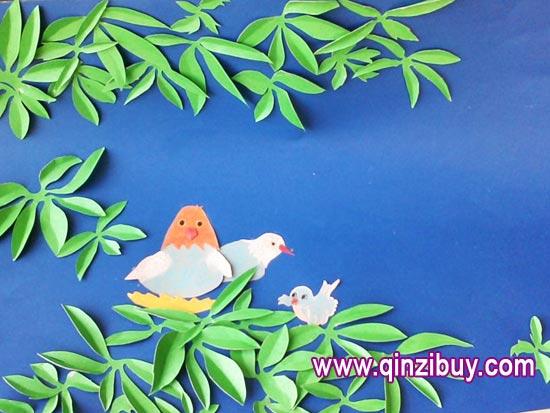 幼儿园主题墙环境布置:鸟鸣树间—幼儿园环境布置