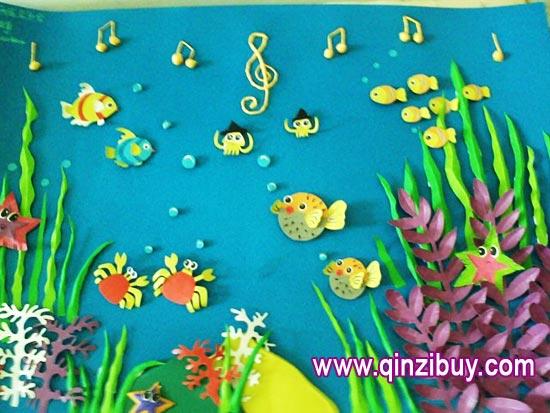 幼儿园主题墙环境布置:鱼的歌
