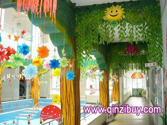 幼儿园环境布置:走廊布置1-幼儿园环境布置图