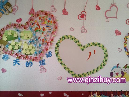 幼儿园主题墙布置:爱心春天—幼儿园环境布置图片