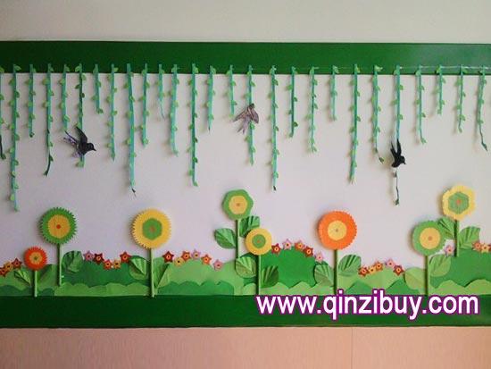 幼儿园主题墙布置:春天6—幼儿园环境布置图片