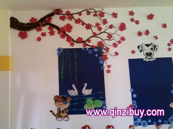 幼儿园主题墙布置:春天到了—幼儿园环境布置图片