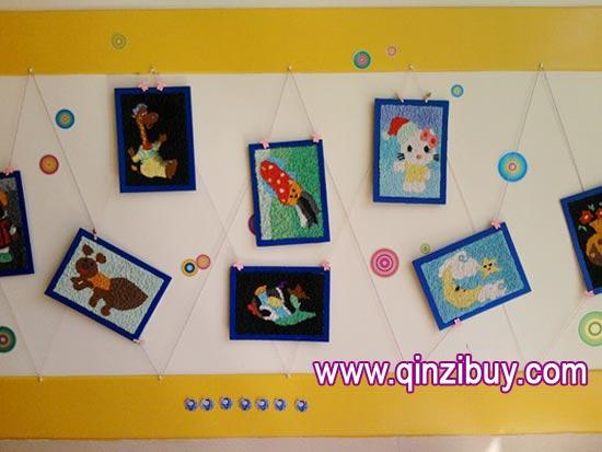 幼儿园主题墙布置:漂亮的画