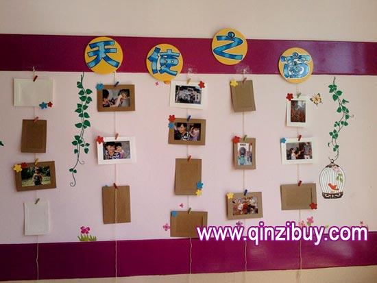 幼儿园主题墙布置:天使之窗—幼儿园环境布置图片