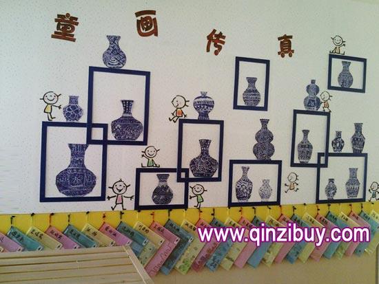幼儿园主题墙布置:童话传真—幼儿园环境布置图片