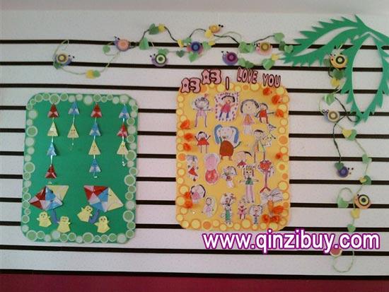 幼儿园主题墙布置:我爱妈妈—幼儿园环境布置图片