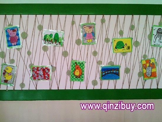 幼儿园主题墙布置:小动物—幼儿园环境布置图片