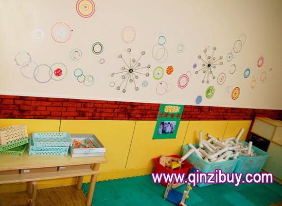 幼儿园墙面布置 圆形的精彩