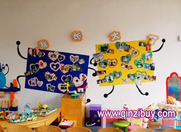 主题墙布置:我长大了—幼儿园环境布置图片