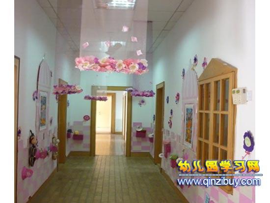 花香风格:幼儿园走廊布置—幼儿园环境布置图片