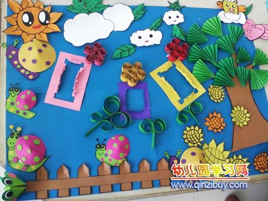 主题墙:蜗牛的世界—幼儿园环境布置图片