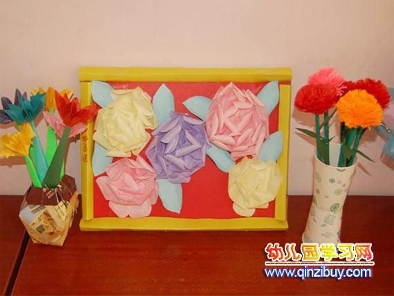 手工边框图片展示_幼儿园立体手工边框相关图片