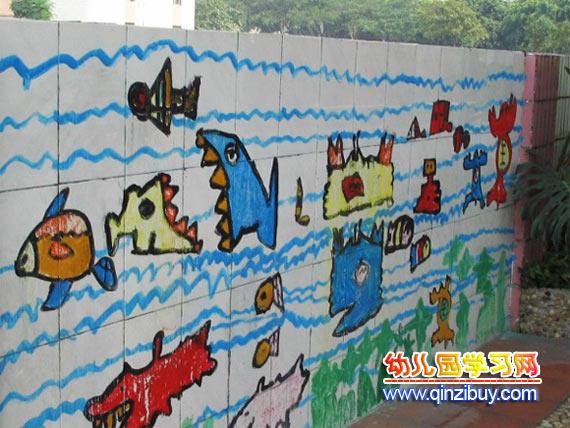 幼儿园主题墙:海底动物2—幼儿园环境布置图片