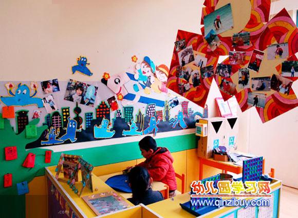 幼儿园区域环境布置:手工区1—幼儿园环境布置图片