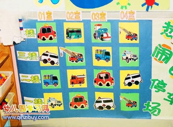 幼儿园主题墙面布置:停车场