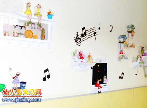 幼儿园墙面布置:音符