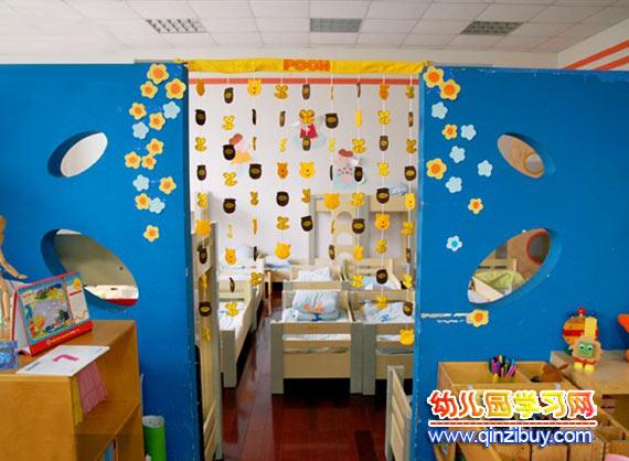 幼儿园吊饰布置:动物门帘
