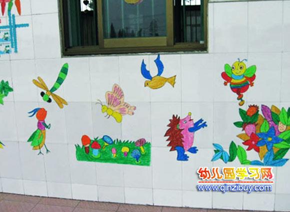 幼儿园墙面布置布置:快乐动物—幼儿园环境布置图片