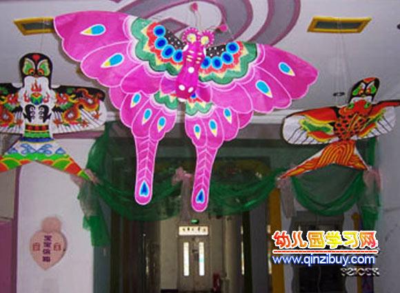 幼儿园吊饰设计:蝴蝶风筝—幼儿园环境布置图片