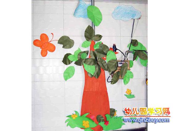 幼儿园墙面布置:大树