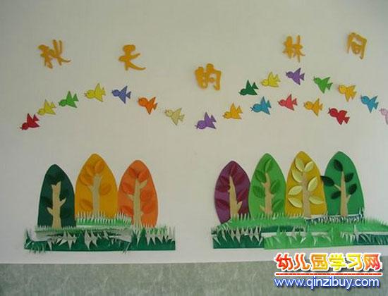 幼儿园墙面布置:小树林