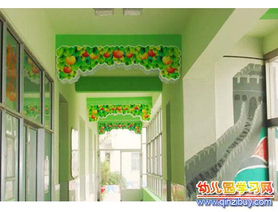 幼儿园走廊吊饰布置:瓜果香—幼儿园环境布置图片