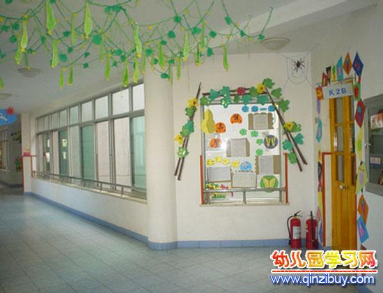 幼儿园吊饰布置:绿色刀豆—幼儿园环境布置图片
