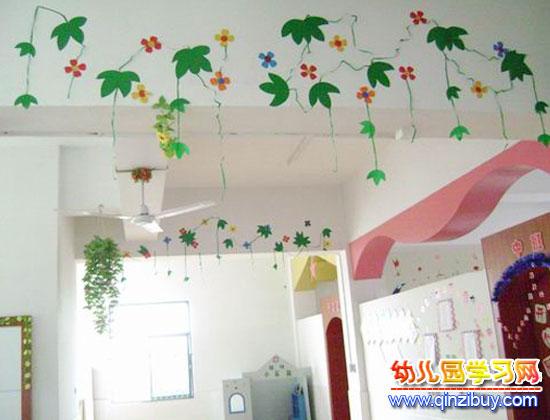 幼儿园吊饰布置:春天的花