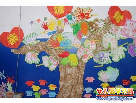 亲情树_幼儿园墙面环境布置