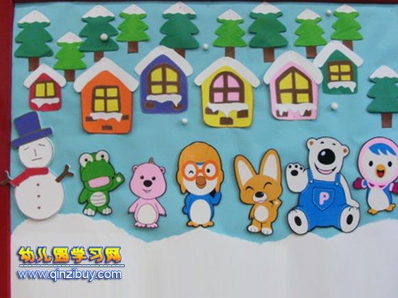 冬天的动物│幼儿园冬天环境布置图片