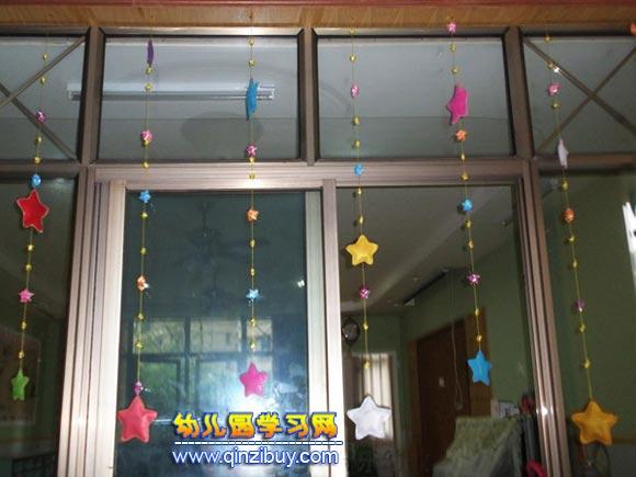 幸运星│幼儿园吊饰布置图片
