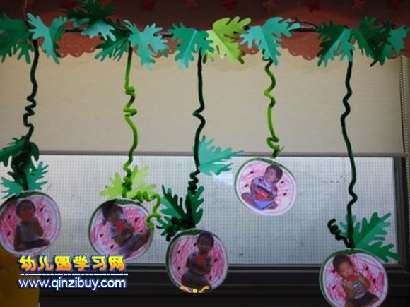 西瓜宝宝│幼儿园吊饰布置图片