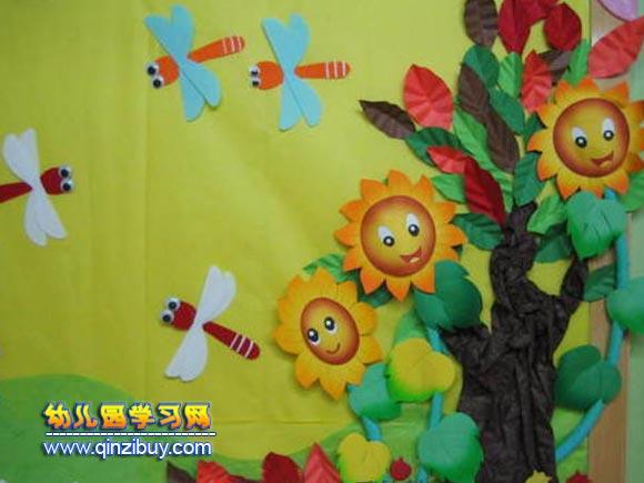 幼儿园墙面布置图片:夏天向日葵