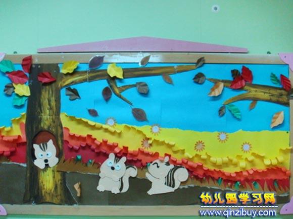 幼儿园墙面布置图片:彩色的秋天