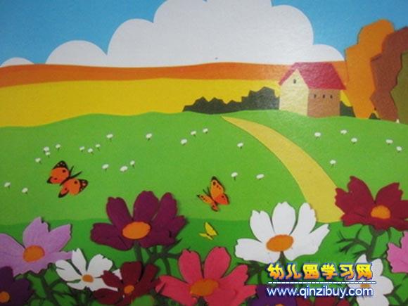 幼儿园墙面布置:春天的图画—幼儿园环境布置图片