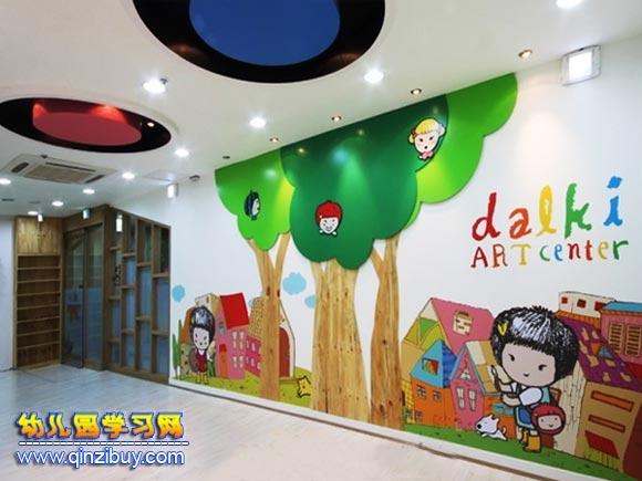 艺术长廊│幼儿园走廊环境布置图片