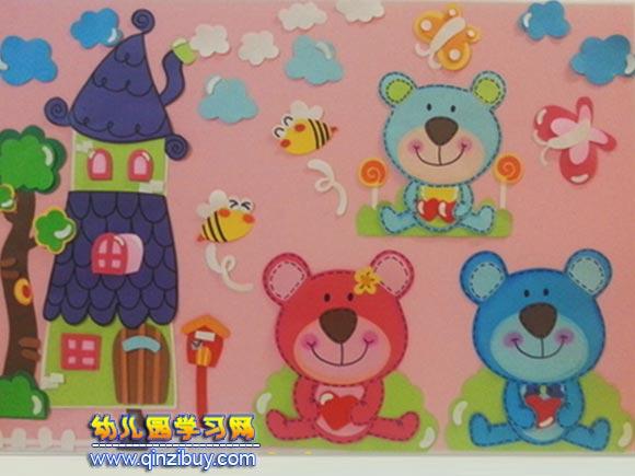 快乐的小动物│幼儿园环境布置图片