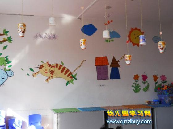 幼儿园环境布置:废旧物品制作的吊饰