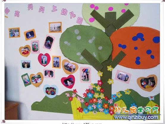 园照片墙布置图片:高高兴兴上幼儿园—幼儿园环境