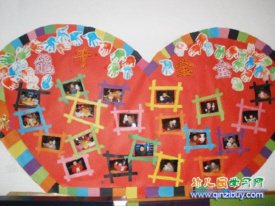 园的安全案例_幼儿园照片墙布置:能干的宝宝—幼儿园环境布置图片