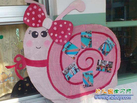 幼儿园照片墙布置图片:蜗牛公主