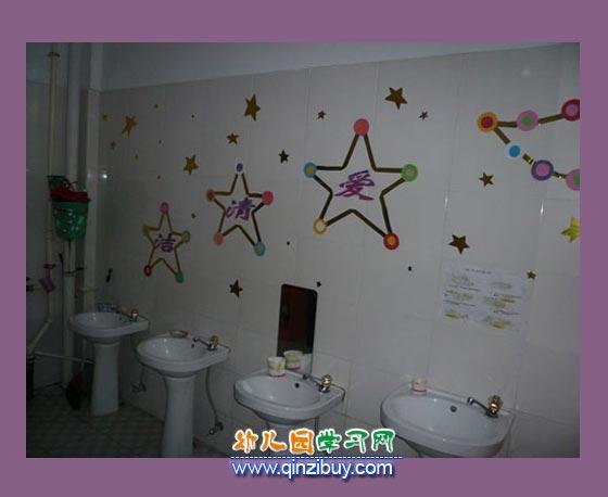 儿童卫生间_幼儿园区角环境布置图片3