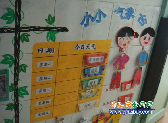 小小气象站_幼儿园墙面设计图片