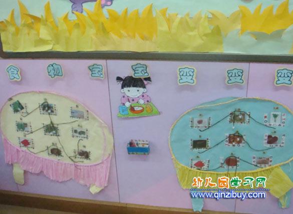 幼儿园中班墙面布置图片:冬天主题设计