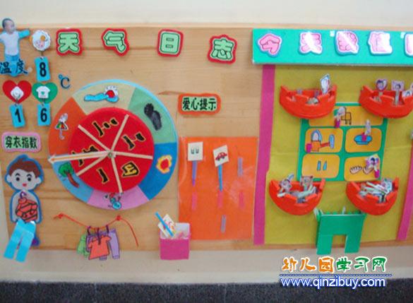 幼儿园科学墙_气象日志_幼儿园墙面布置图片—幼儿园环境布置图片